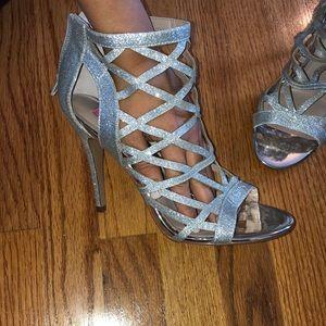 Betsy Johnson silver heels